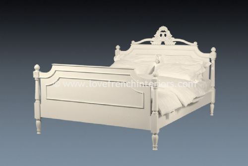 Alice French Bed in Antique White